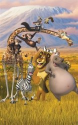 Fototapeta dla dzieci - Madagaskar - 3D - 244x152cm