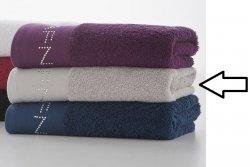 Ręcznik kąpielowy - Srebrny - Diamonds NAF NAF - 100% Bawełna