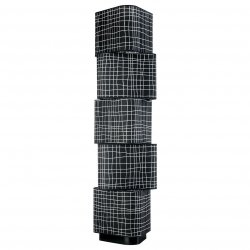 Lampa podłogowa - Czarna Kratka - 33x130cm