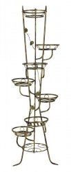Kwietnik metalowy - Stojak na kwiaty - 7 Doniczek