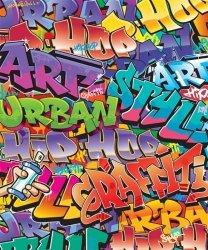 Fototapeta dla dzieci - 3D Walltastic - Graffiti 244x201cm