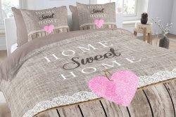 Pościel bawełniana -  ANEEZA - Sweet Home - 140x200 cm