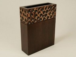 Wazon drewniany - 25x9x33cm