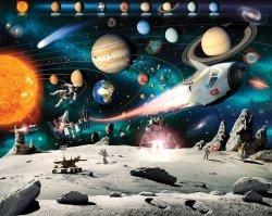 Fototapeta dla dzieci - Kosmiczna Przygoda 2 - 3D - Walltastic  - 243,8x304,8 cm