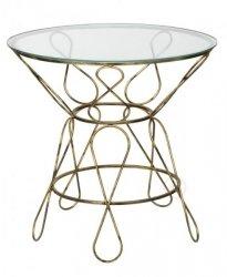 Stolik Szklany - Okrągły - Kawowy - Ósemki