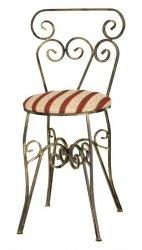 Krzesło metalowe z miękkim siedziskiem - Retro DecoArt24.pl
