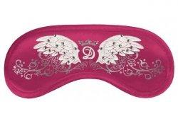 Opaska na Oczy - Swarovski Wings dark pink