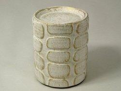 Świecznik - Biały - Ceramiczny - 10x12cm