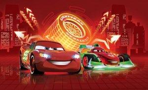 Fototapeta dla dzieci - Auta Cars Disney Neony - 254x184 cm