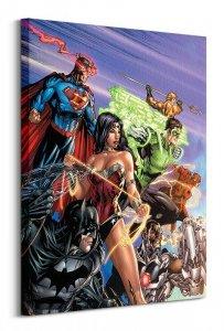 DC Justice League (Ready For Action) - Obraz na płótnie