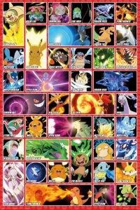 Pokemon - Postacie - plakat