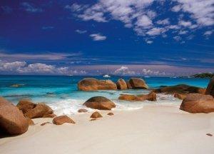 Fototapeta do salonu - Szeszele, kamienie na plaży - 254x183 cm
