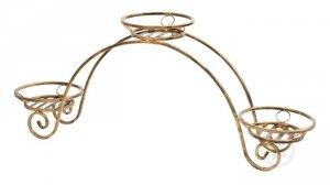 Kwietnik metalowy - Stojak na kwiaty - Podium - Na 3 Doniczki