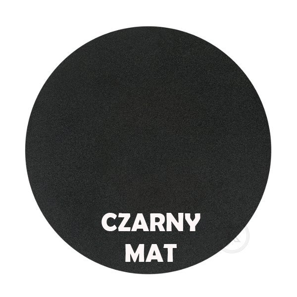 Czarny mat - kolorystyka metalu - Kwietnik metalowy - Sklep Online