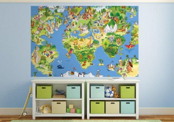 Fototapeta dla dzieci - Mapa Świata - sklep