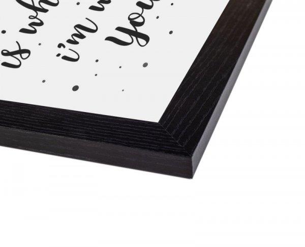 Czarna rama drewniana 61x91,5 cm