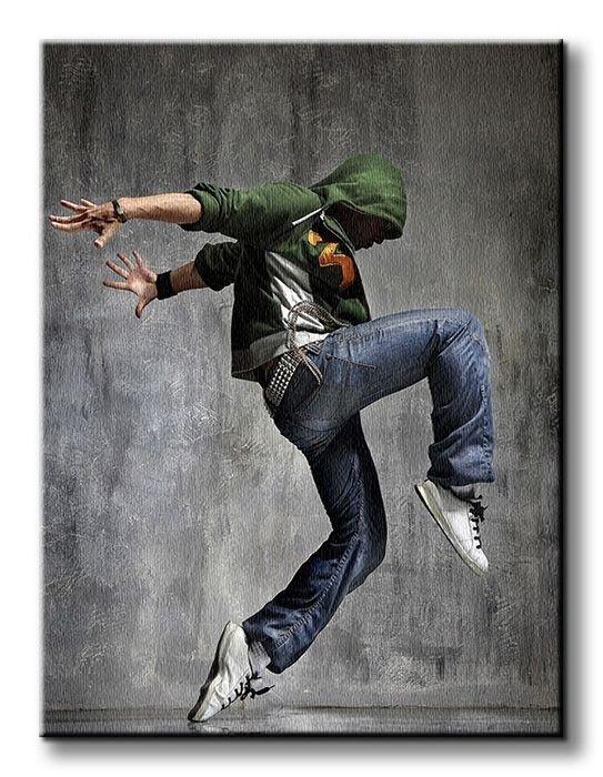 Obraz na płótnie - Tancerz - 90x120 cm