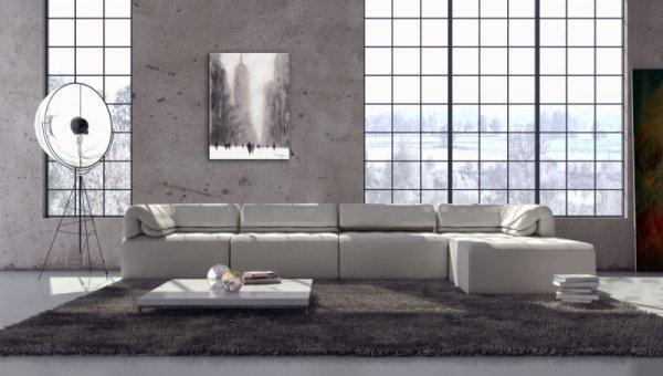 Obraz do salonu - Heavy Snowfall, 5th Avenue - New York - 80x60cm