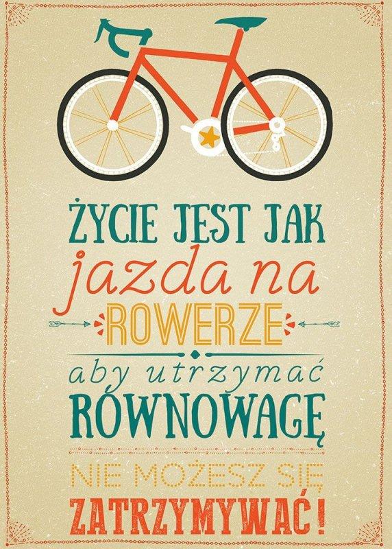 Plakat typograficzny - Jazda na rowerze - 50x70 cm