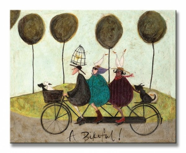 Obraz na płótnie - A Bikeful! - 50x40 cm