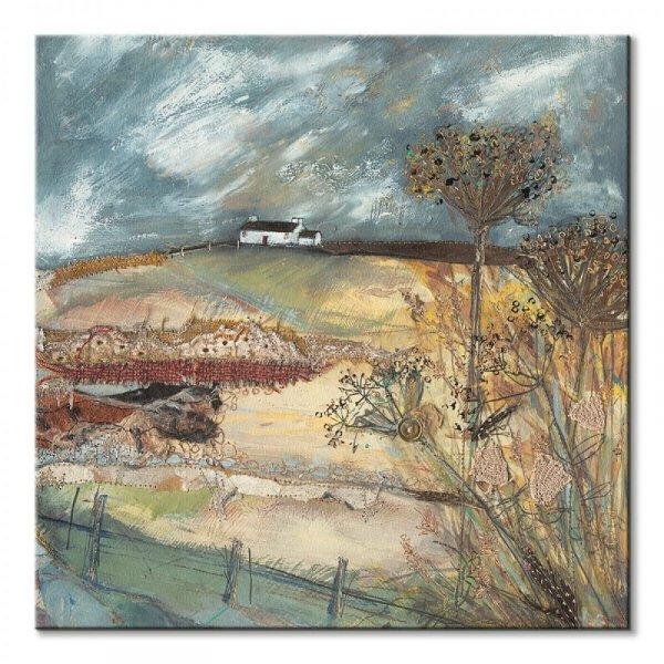 Along the Farm Drive - obraz na płótnie