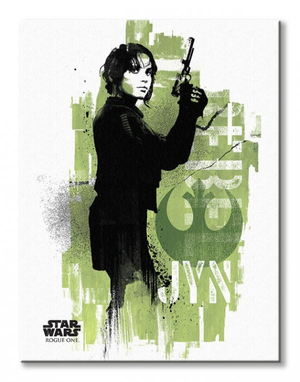 Star Wars Rogue One Jyn Grunge - obraz na płótnie