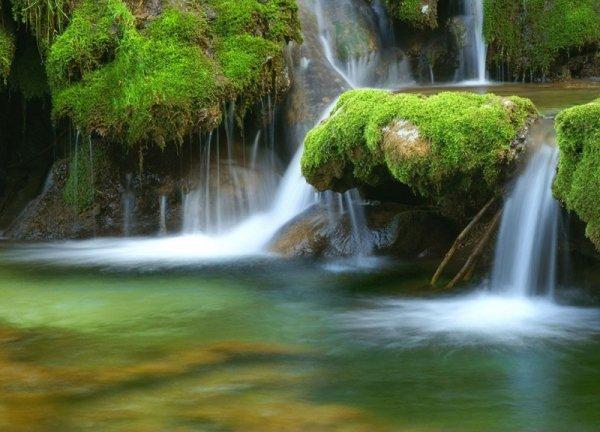 Fototapeta na ścianę - Leśny wodospad - 254x183 cm