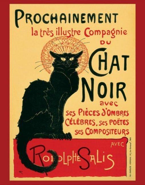 Chat Noir -Steinlein - plakat