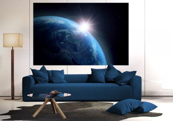 Fototapeta - Ziemia i Słońce - 175x115 cm