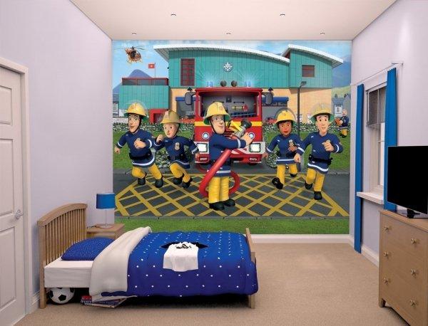 Fototapeta dla dzieci - 3D - Strażak Sam - Walltastic - 243,8x304,8 cm