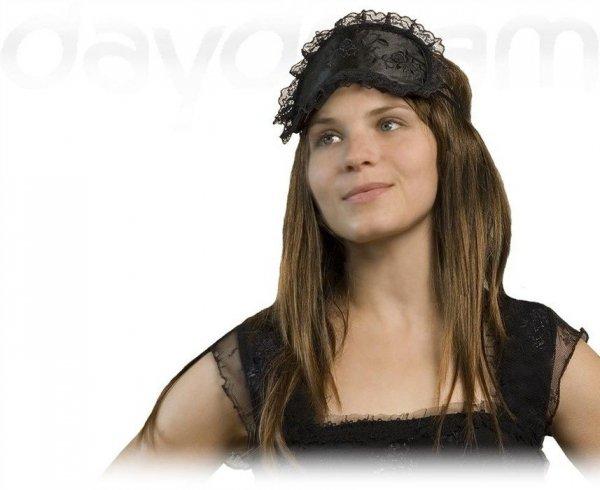 Opaska na Oczy - Wzór Lace Roses black