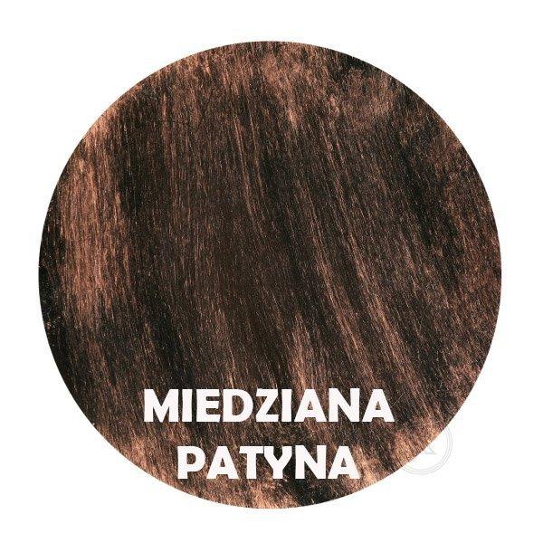Miedziana patyna - kolorystyka metalu - Kwietnik metalowy - Ścienny - Sklep