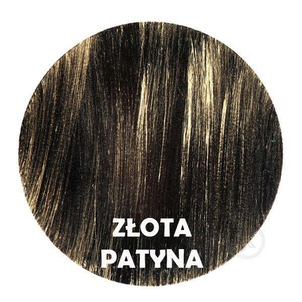 Złota patyna - kolorystyka metalu - Kwietnik kuty kolumna - Sklep Internetowy