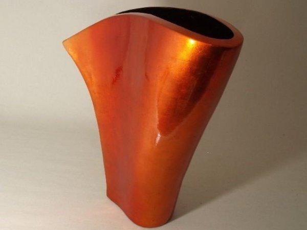 Wazon ceramiczny - Pomarańcz metaliczny - 41x12x43cm