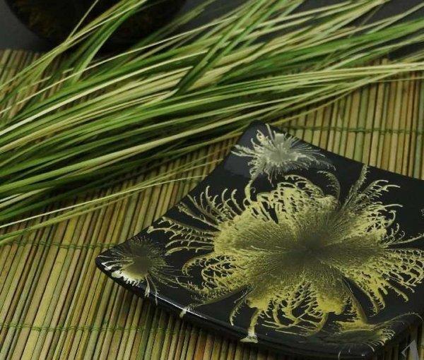 Patera na owoce - Zieleń - Ceramika - 14x2cm