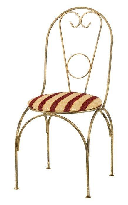 Krzesło metalowe z miękkim siedziskiem - Sklep