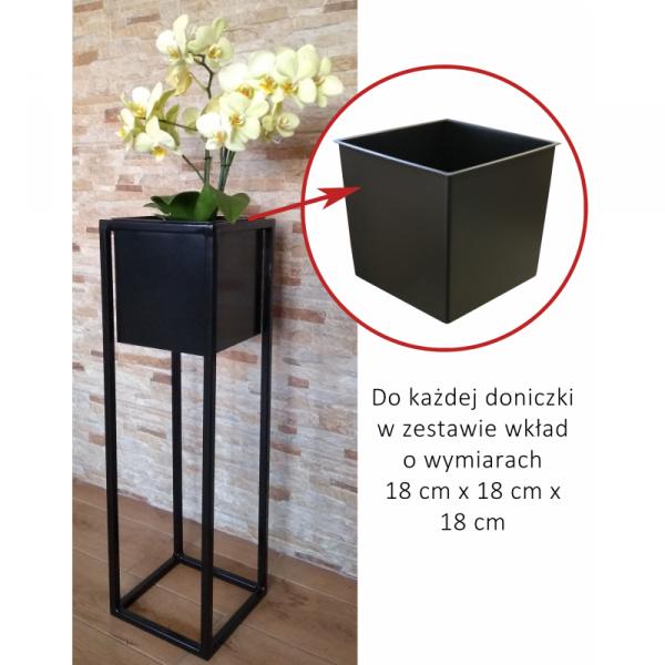 Kwietnik metalowy - Stojak na Kwiaty z doniczką - LOFT 70 - dekoracje do domu - DecoArt24.pl