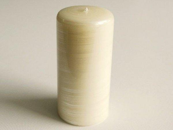 Świeca ozdobna - walec lakier - 7x15cm