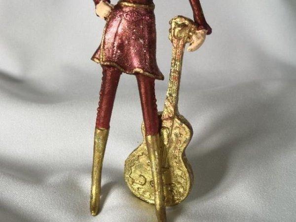 Dziewczyna z gitarą 13cm - Ozdoba choinkowa -  (6szt. w opakowaniu)