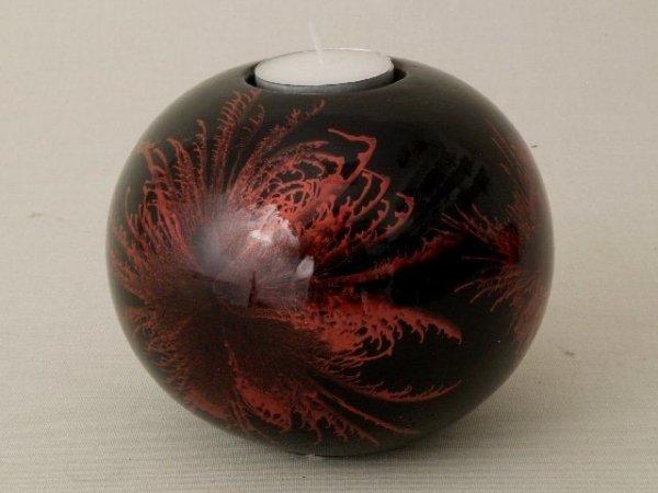 Świecznik - Kula - Czerwień - 12x10cm