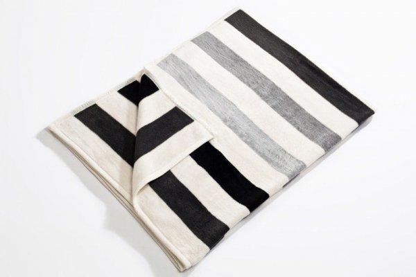 Koc - 150x200cm - Stripes grey