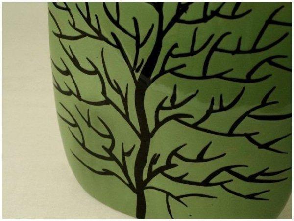 Wazon ceramiczny - Zielony - 23x8x30cm