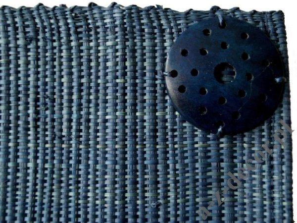 Podkładki na stół - Ciemnoniebieskie - Z rafii - 33x48cm (4szt.)