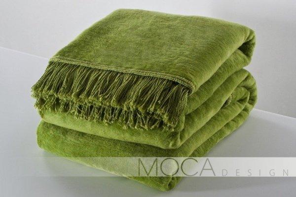 Koc - 150x200 cm - Kolor Jasno/zielony - Oliwka