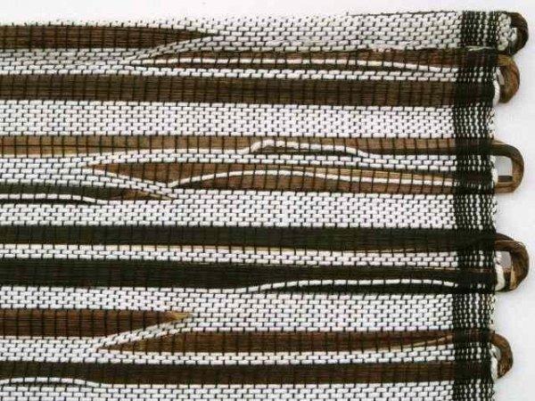 Podkładka na stół - Biało czarna - Z abaki - 33x48cm