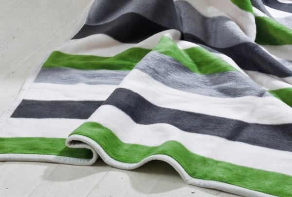 Koc - 150x200cm - Stripes green