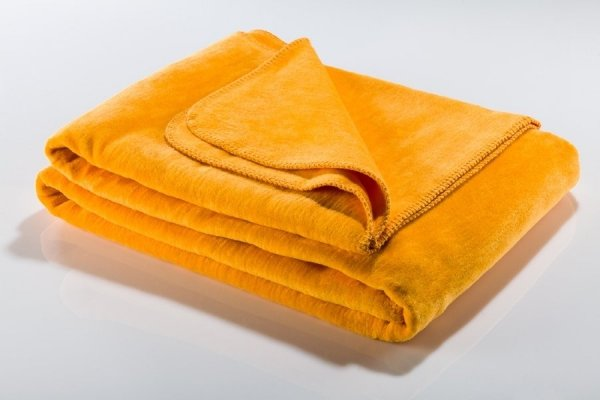 Koc - Żółty - 130x180 cm - SoftLine Yellow