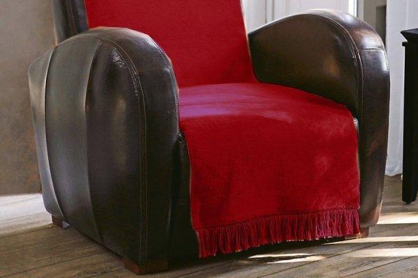 Narzuta na fotel - 100x200 cm - Bordo