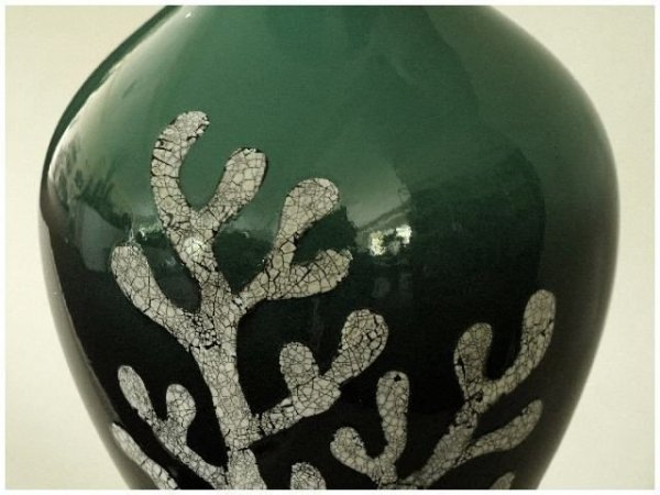 Wazon ceramiczny - Szkliwiona Zieleń - 20x36cm