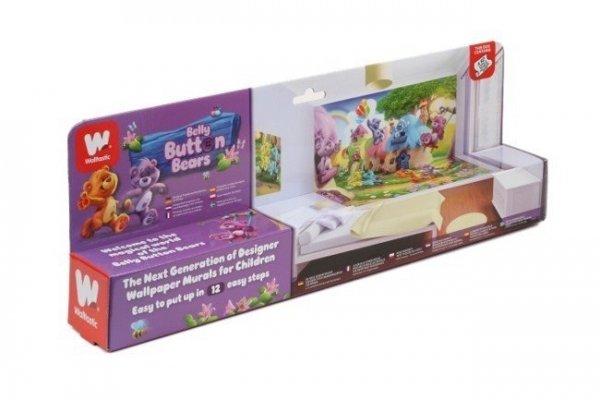 Fototapeta dla dzieci - Button Bears - 3D - Walltastic  243,8x304,8 cm